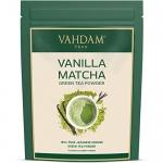 VAHDAM Vanilla + Matcha Green Tea Powder, 1.76oz (25 Cups)