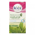 Veet Natural Inspirations Wax Strips, Legs & Body