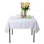 Square Solid Polyester Tablecloth