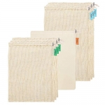 Venhoo Reusable Produce Bags – Set of 7(3 Large, 4 Medium)