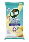 Vim Lemon Antibacterial Wipes 60 Count