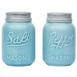 Vintage Mason Jar Salt & Pepper Shakers