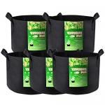 VIVOSUN 5-Pack 5 Gallons Grow Bags