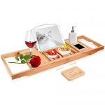 VPCOK Bamboo Bathtub Tray