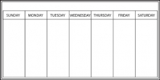 Wall Pops WPE98895 Dry Erase Peel and Stick Whiteboard Dry-Erase Weekly Calendar 13″ x 26″