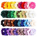 WATINC 40Pcs Colorful Velvet Hair Scrunchies Set