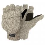 Weatherbeaters Ragg Wool Pop Top Fingerless Glove, Oatmeal