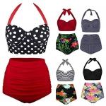 Whatyiu Women Bikini Set Swimsuit High Waist