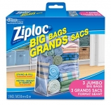 Ziploc Big Bags Storage with Double Zipper XX Large – 3 Count