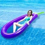 Zixar Eggplant Shape Inflatable Pool Float