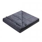 "ZonLi Weighted Blanket 12lbs Twin, ( 48""x72"" Dark Grey)"