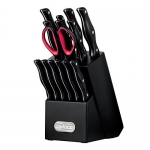 ZYLISS Expert Knife Block Set with Steak Knives, Black, 15 Piece